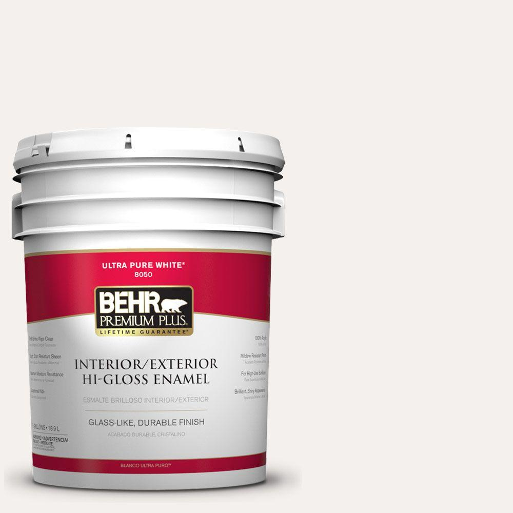 BEHR Premium Plus 5-gal. #PWN-15 Silk Pillow Hi-Gloss Enamel Interior/Exterior Paint