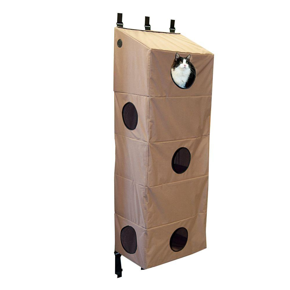 K&H Pet Products Hangin' Cat Condo Large Tan Cat Tree