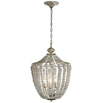 Laura 5-Light White Washed Chandelier