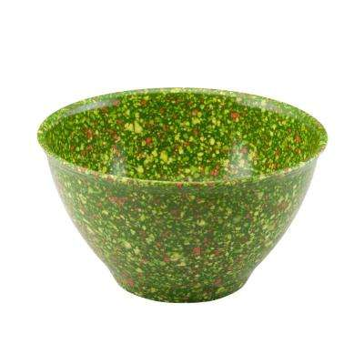 Garbage Bowl with Rubber Base in Green