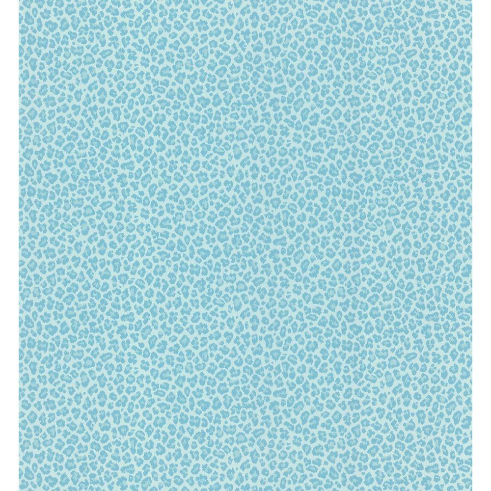 Bambam Aqua Leopard Skin Wallpaper Sample
