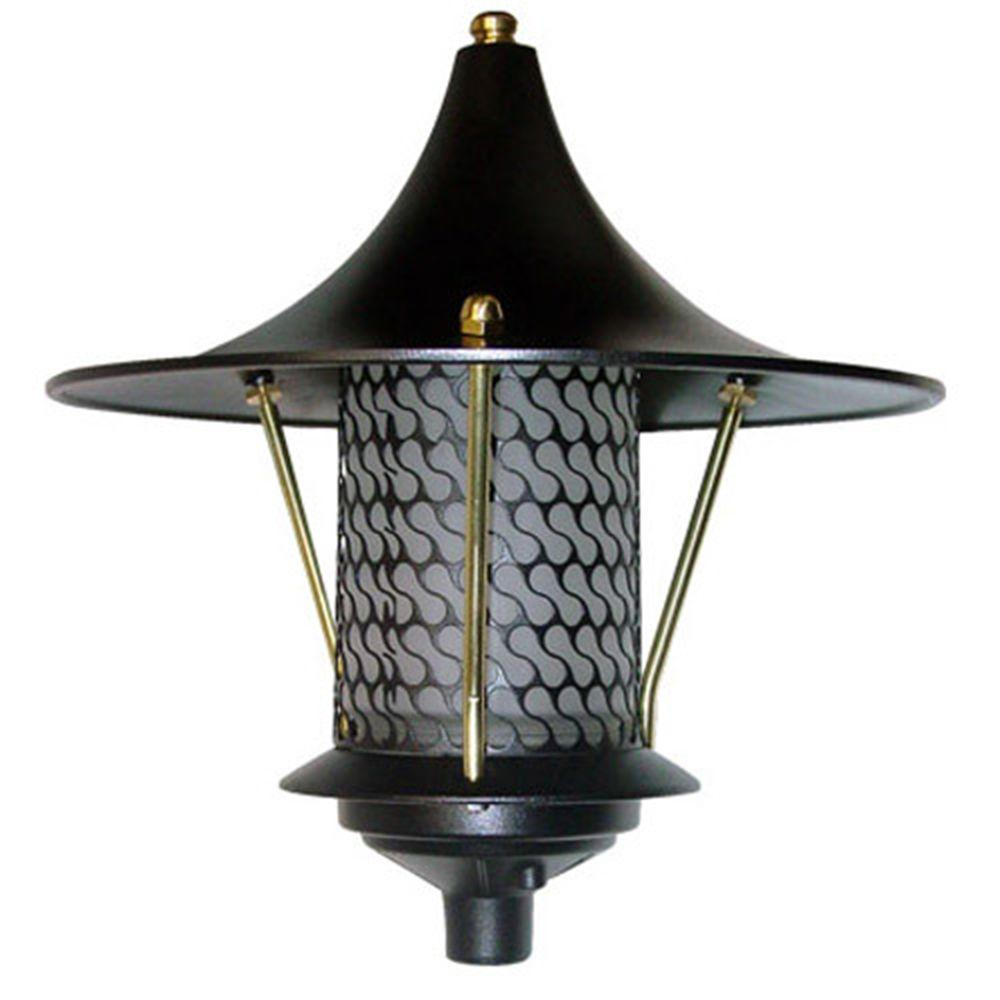 Corbin 1-Light Black Flair Top Outdoor Pagoda Pathway Light