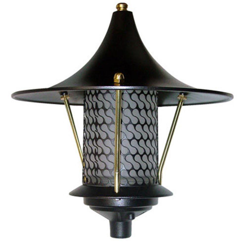 Corbin 1-Light Black Flair Top Outdoor Pagoda Pathway Light