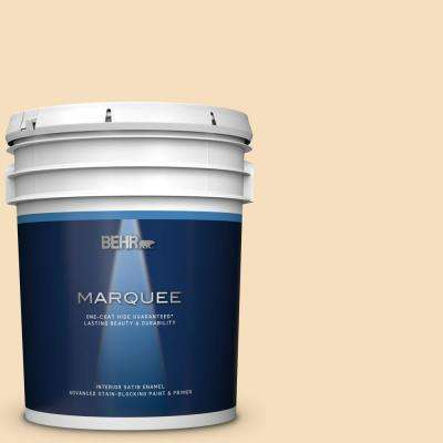 5 gal. #310E-2 Stable Hay Satin Enamel Interior Paint and Primer in One
