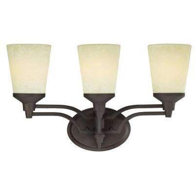 Malvern 3-Light Oil Rubbed Bronze Wall Mount Bath Light