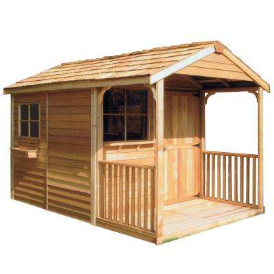 Clubhouse 8 ft. x 12 ft. Western Red Cedar Garden Shed