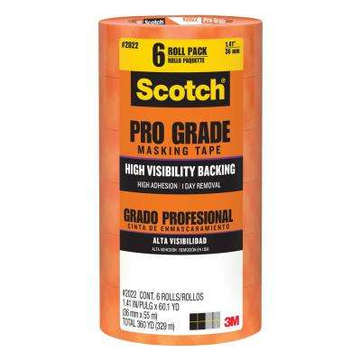 Scotch 1.41 in. x 60.1 yds. Pro Grade Masking Tape ((6-Pack)(Case of 4))