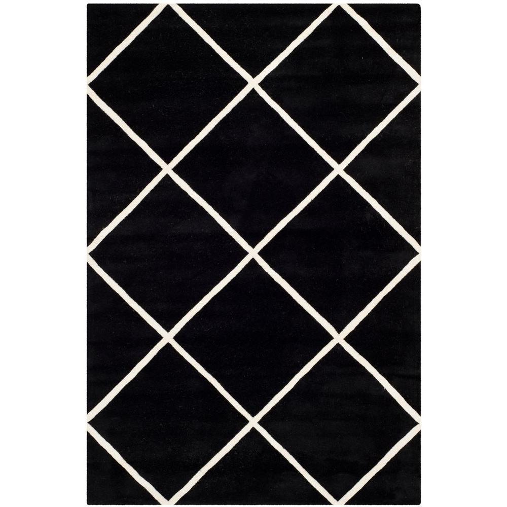 Chatham Black/Ivory 6 ft. x 9 ft. Area Rug