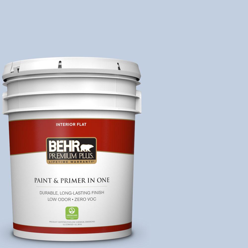 BEHR Premium Plus 5-gal. #580E-2 Saltwater Zero VOC Flat Interior Paint