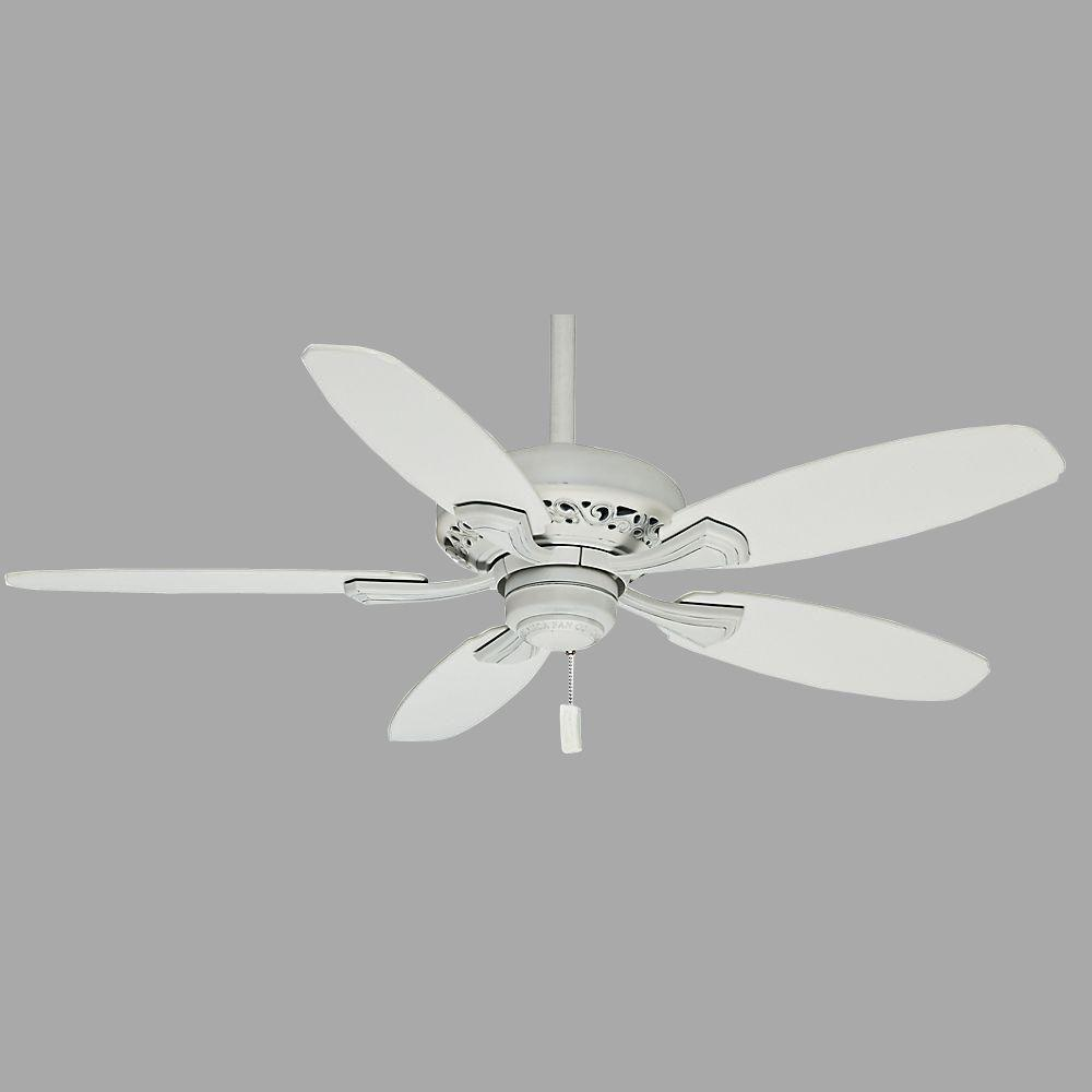 Casablanca Fordham 44 in. Cottage White Indoor Ceiling Fan