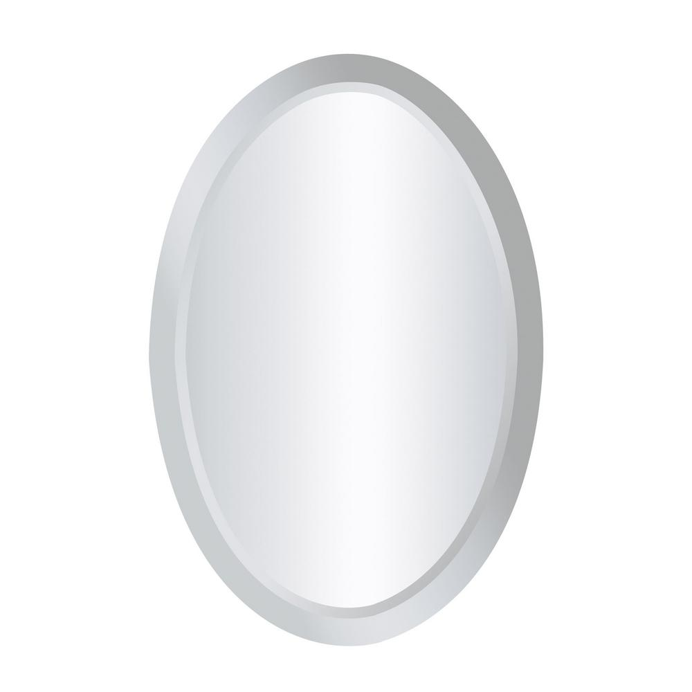 Chardron 24 in. x 16 in. Oval Mirror Glass Framed Mirror