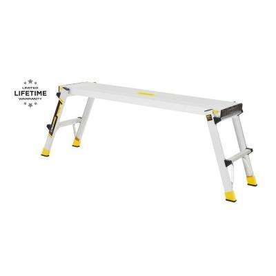47.25 in. x 12 in. x 20 in. Aluminum Slim-Fold Work Platform with 300 lbs. Load Capacity