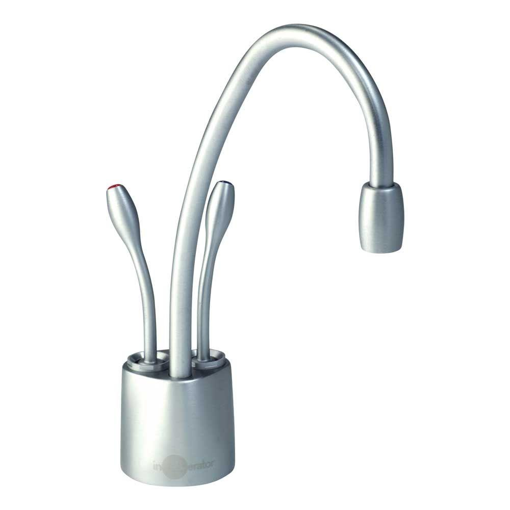 Insinkerator Indulge Contemporary 2 Handle Instant Hot And Cold Water Dispenser Faucet In Brushed Chrome