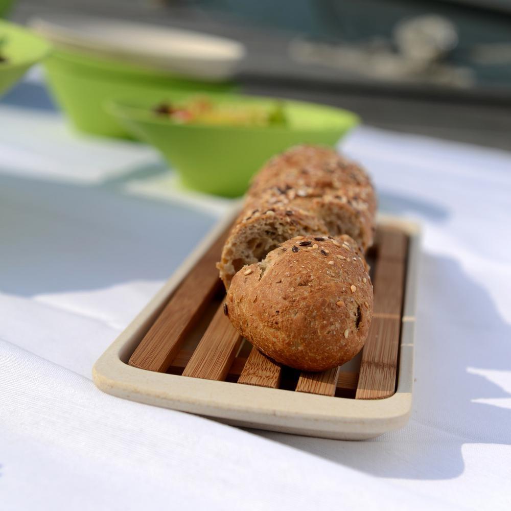 CooknCo Small Bread Board in Cream/Brown