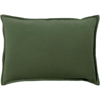 Velizh Dark Green Solid Polyester 19 in. x 19 in. Throw Pillow