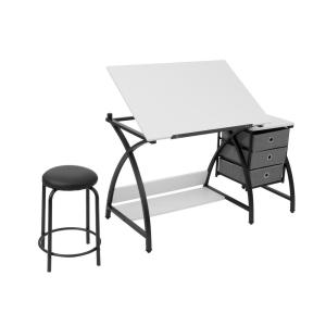 Incredible Comet 50 In W X 23 75 In D X 29 5 In H Black White Mdf Bralicious Painted Fabric Chair Ideas Braliciousco