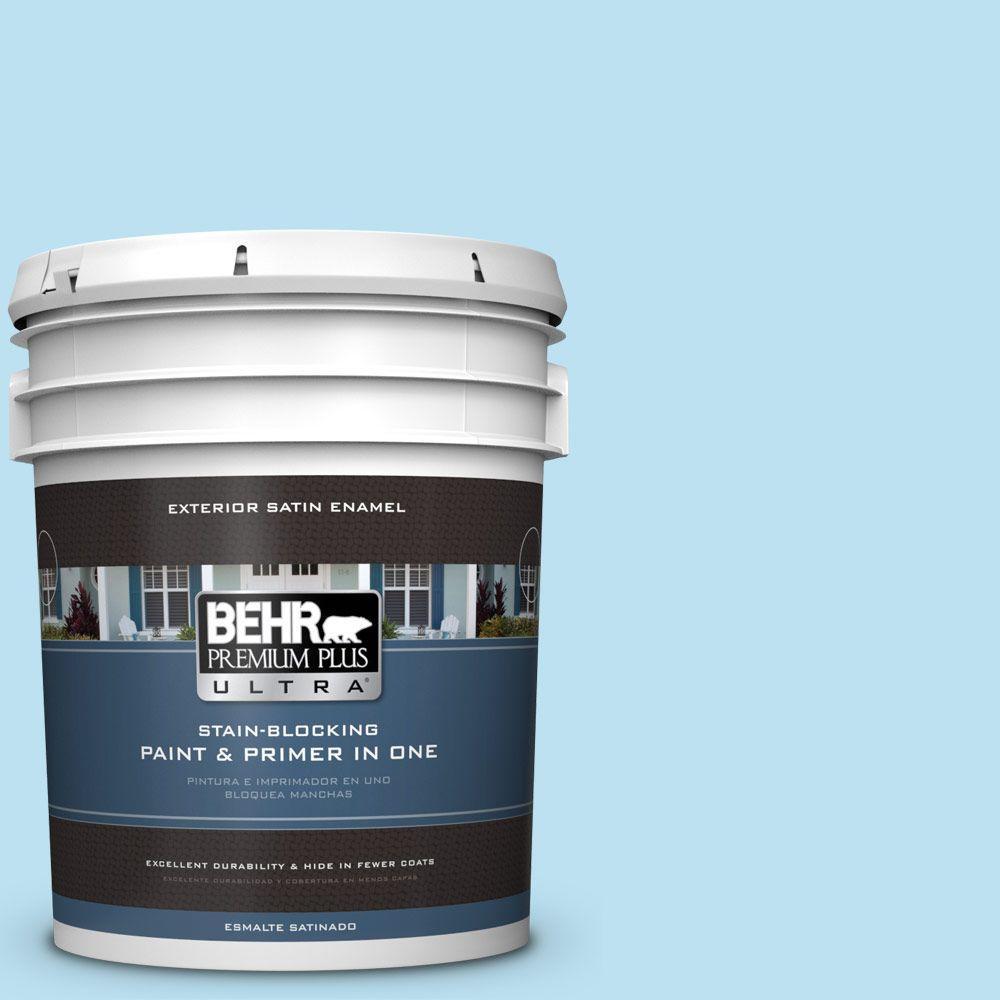 BEHR Premium Plus Ultra 5-gal. #530A-2 Skylark Satin Enamel Exterior Paint