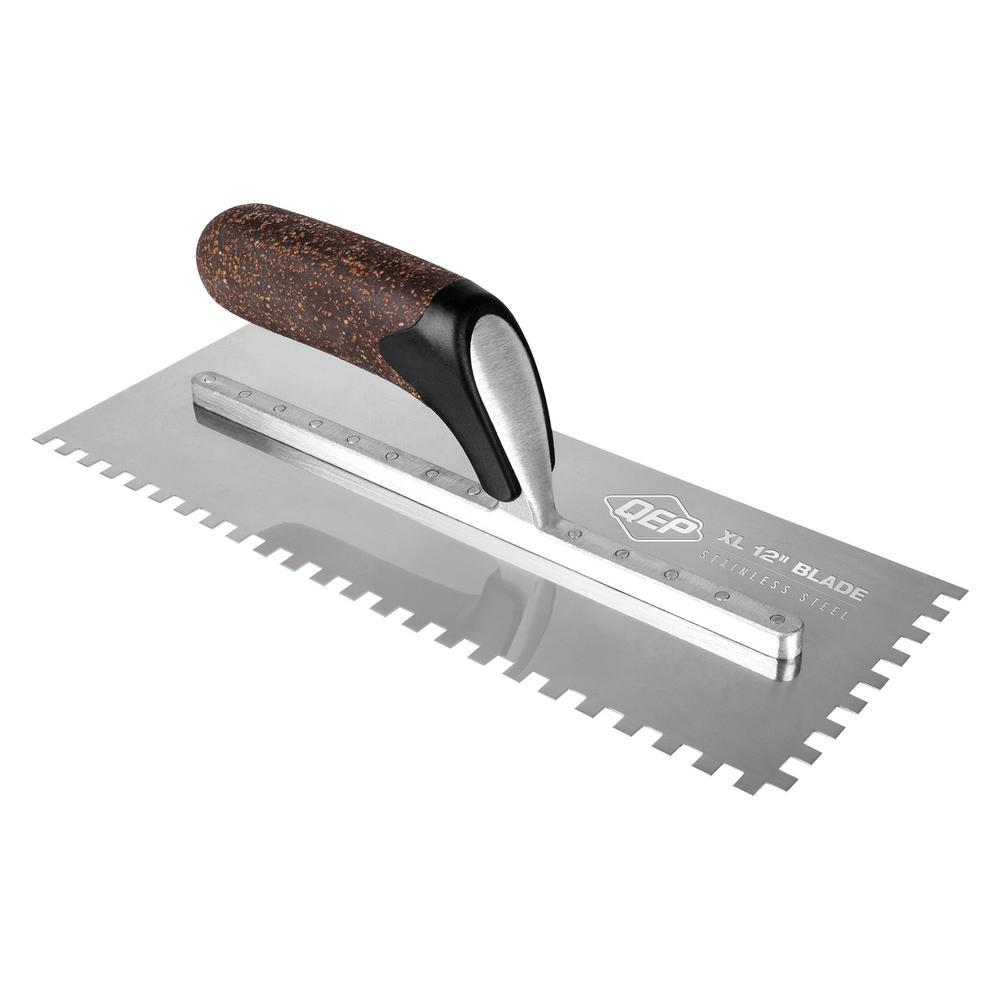 "Kraft Tool Notch Tile Trowel U-Notch 1//4/"" x 3//8/"" x 1//4/"" Made in the USA"
