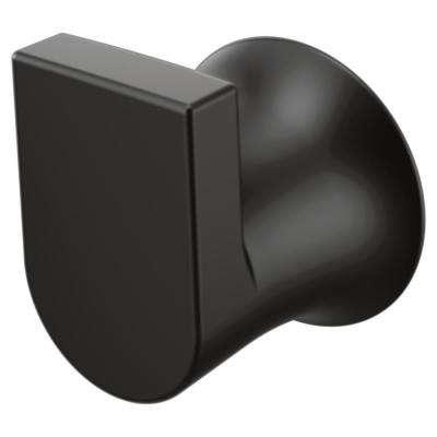 Genta Single Robe Hook in Matte Black