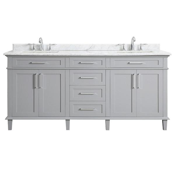 Home Decorators Collection Sonoma 72 in. W x 22 in. D Bath Vanity
