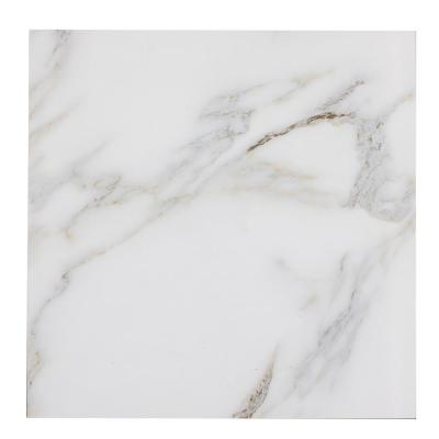Nature Calacatta Gold Deco 8 in. x 8 in. Matte Glass Wall Tile (10 Pieces /Pack)