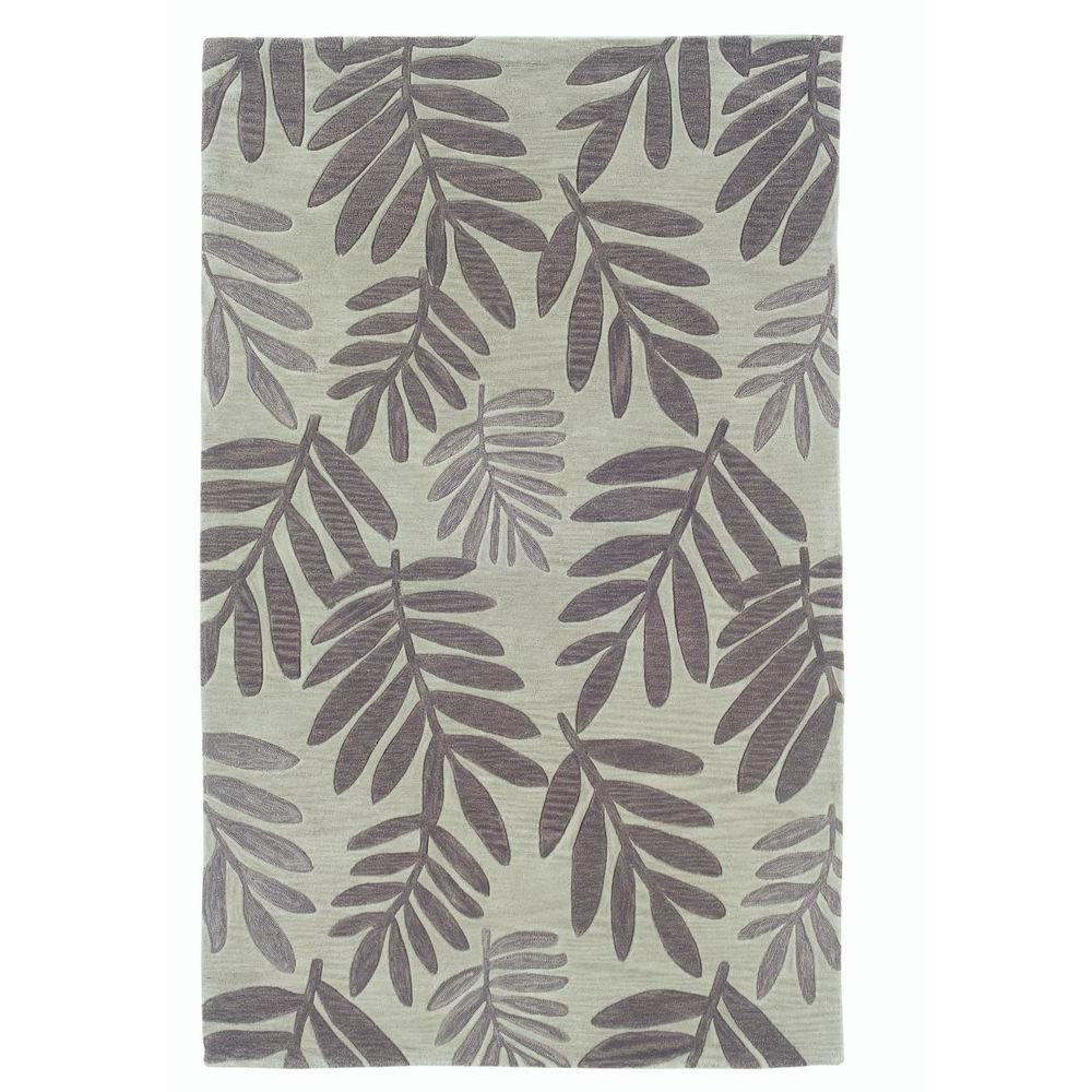 LR Resources Free Falling Leaf Design, Light Green Color 7 ft. 9 in. x 9 ft. 9 in. Indoor Area Rug-DISCONTINUED