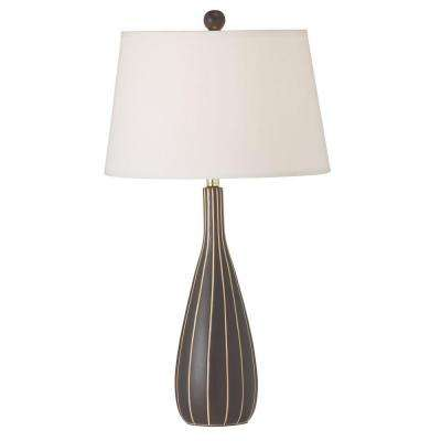 Catherine 25 in. CFL Coffee Table Lamp with Fabric Shades