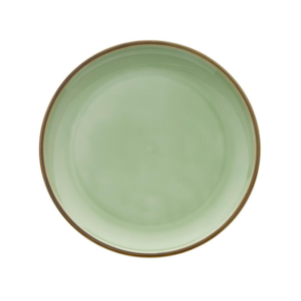 Celadon 10.625 in. Porcelain Plates (Set of 12)