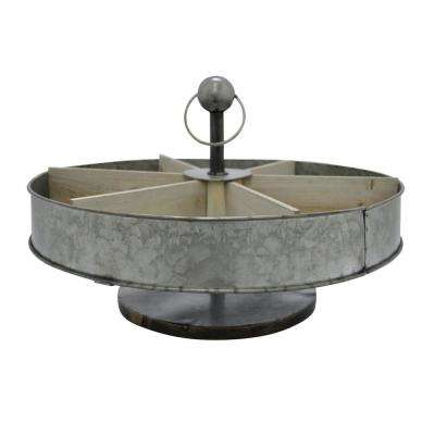 14 in. Galvanized Metal Caddy