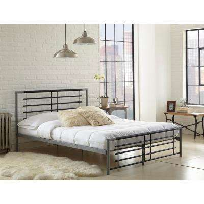 Kerri Black and Silver Twin Platform Bed