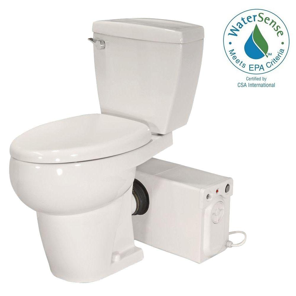 Thetford Bathroom Anywhere 2 Piece Gpf Single Flush Elongated Toilet With Seat Macerating