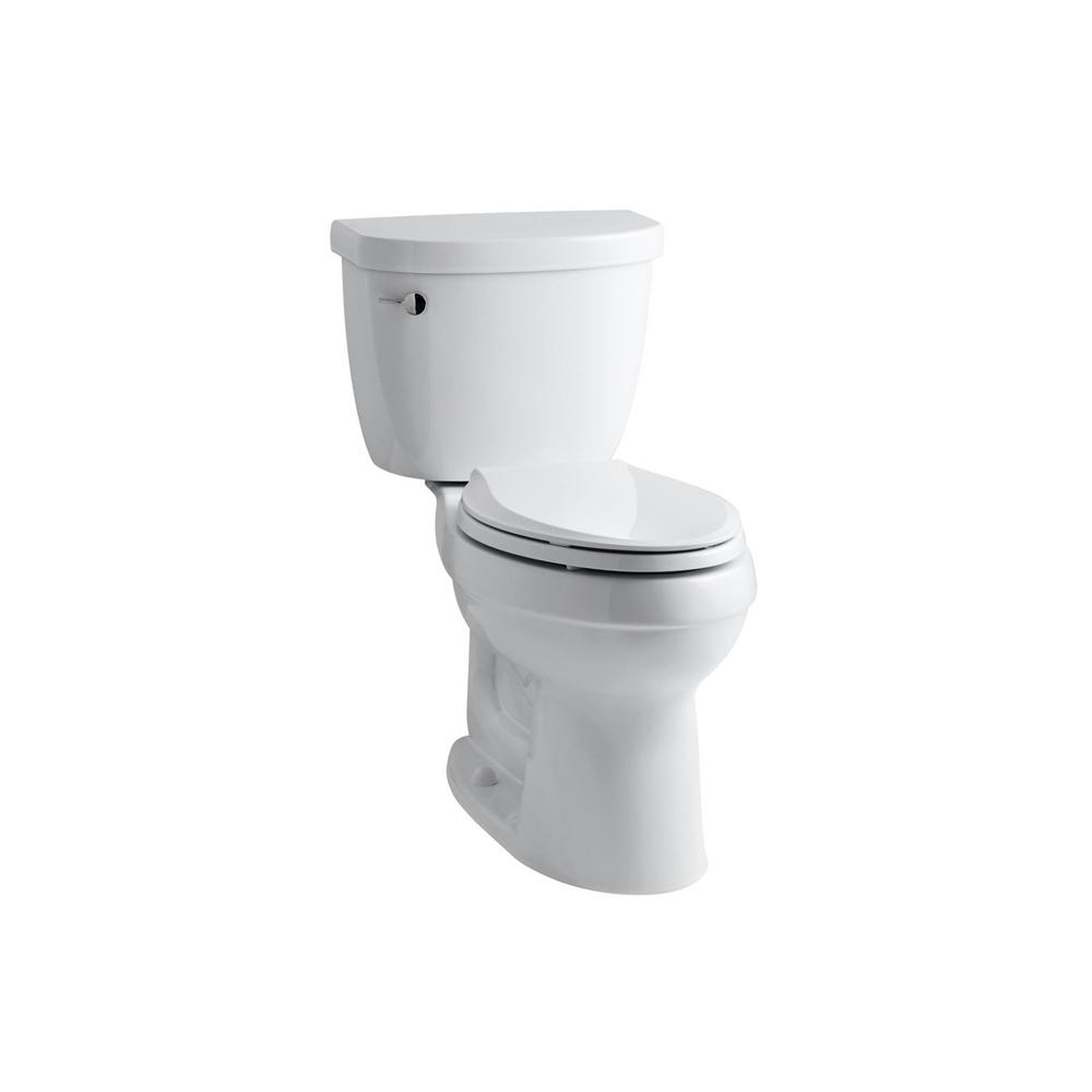 Enjoyable Kohler Cimarron Comfort Height 2 Piece 1 6 Gpf Elongated Toilet In White With Cachet Q3 Toilet Seat Machost Co Dining Chair Design Ideas Machostcouk