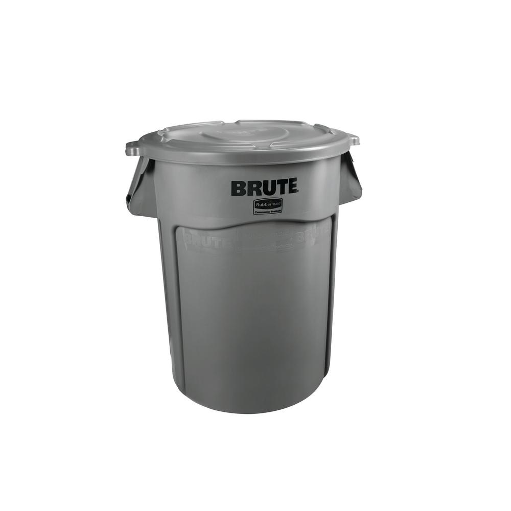 Rubbermaid Commercial Products Brute 44 Gal. Grey Round Vented Trash Can