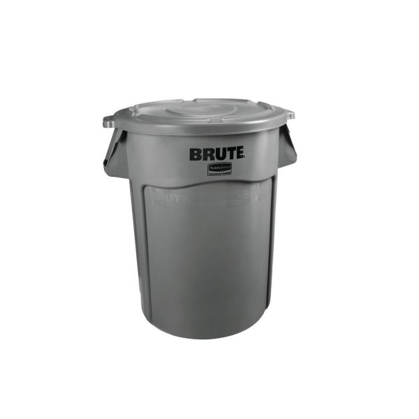 Brute 44 Gal. Grey Round Vented Trash Can