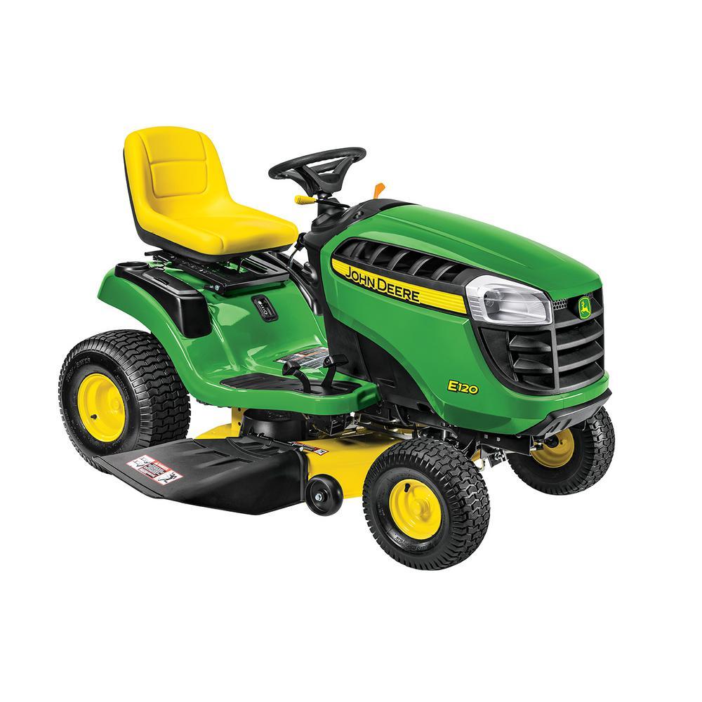 John Deere E120 42 inch 20 HP V-Twin Gas Hydrostatic Lawn Tractor-California Compliant by John Deere