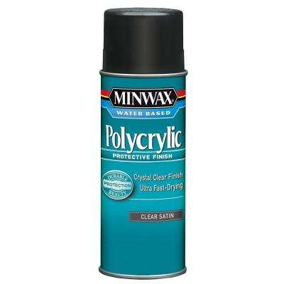 11.5 oz. Clear Satin Polycrylic Protective Finish Aerosol Spray (6-Pack)