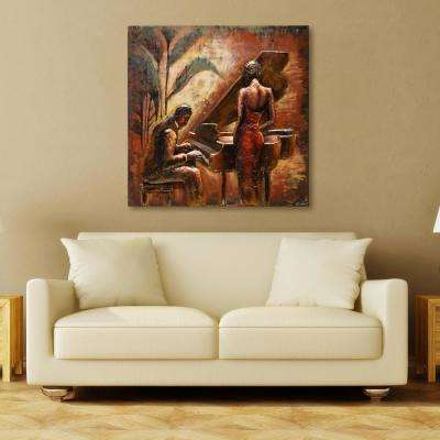 """40 in. X 40 in. """"Romance"""" Mixed Media Iron Hand Painted Dimensional Wall Art"""
