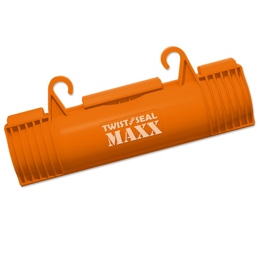 Twist and Seal Maxx Heavy Duty Extension Cord Cover and Plug Protection,  Orange