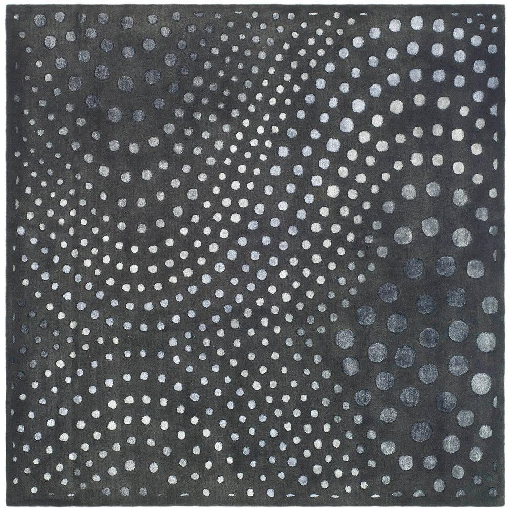 Soho Dark Grey 6 ft. x 6 ft. Square Area Rug