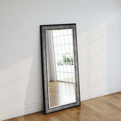 33 in. x 66.5 in. Sterling Charcoal Beveled Full Body Mirror