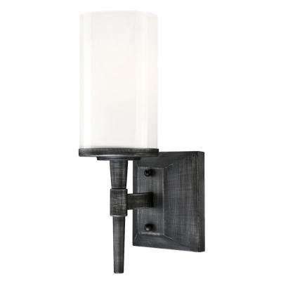 Courtfield 1-Light Distressed Aluminum Wall Mount Sconce