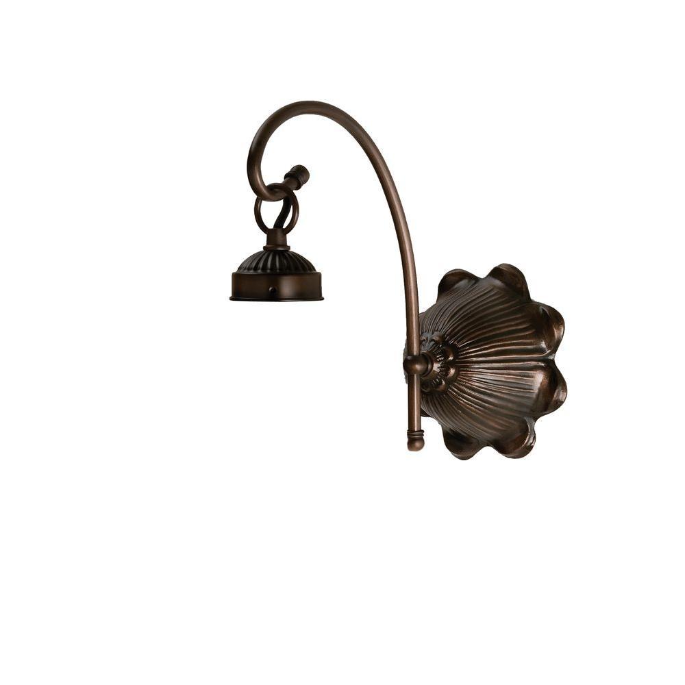 Illumine 1 Light Arm Victorian Sconce Mahogany Bronze Finish