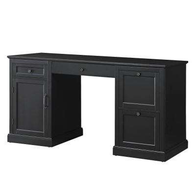 Arbor 4-Drawer Black Desk