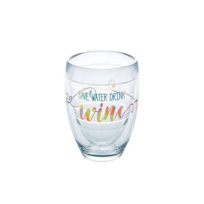 Save Water Drink Wine 9 oz. Double-Walled Tritan Stemless Wine Glass