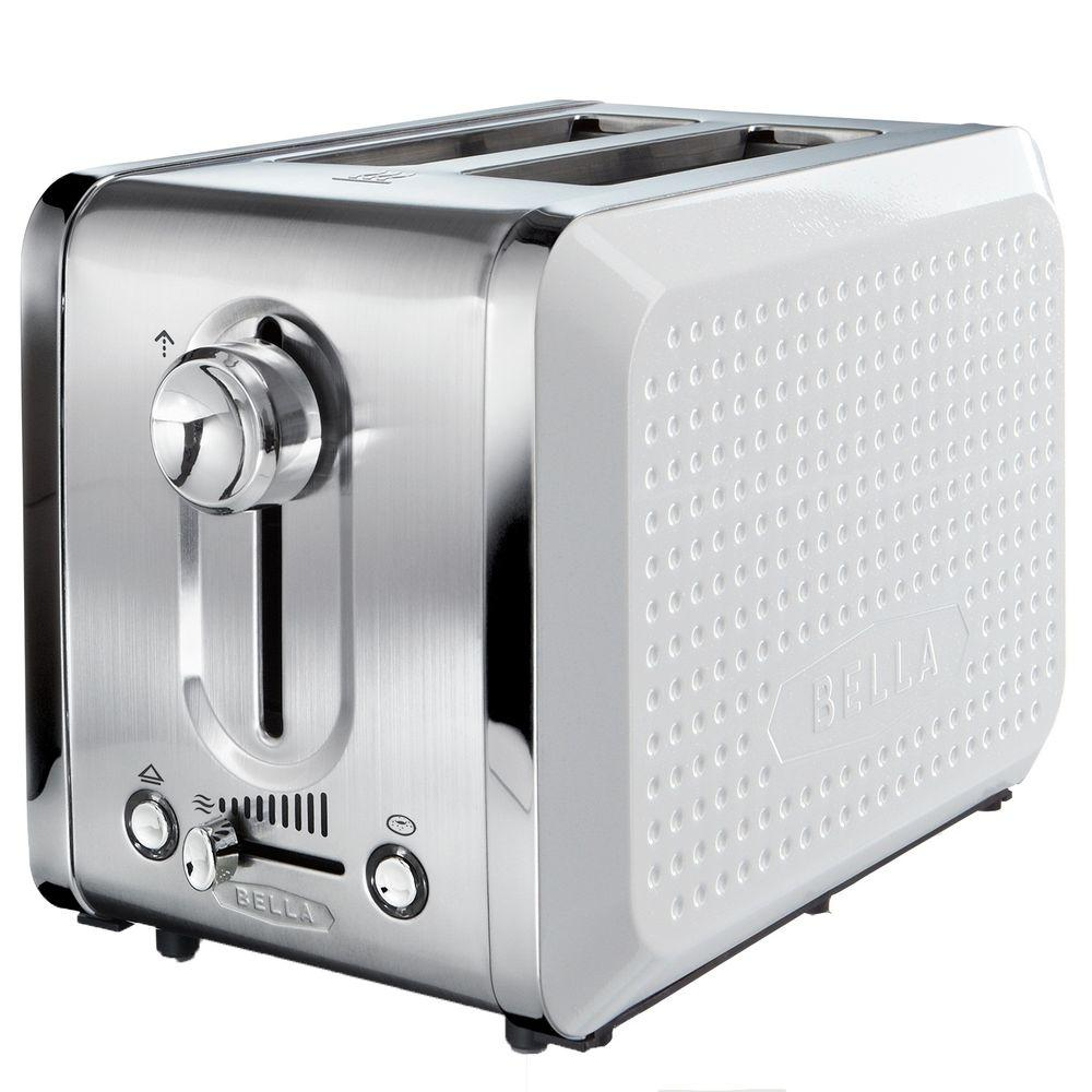 Bella Dots 2 Slice Toaster in White-DISCONTINUED