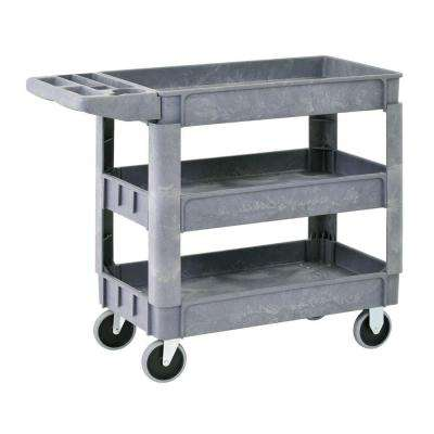 3-Shelf 46 in. x 25 in. Heavy Duty Utility Cart with 5 in. Casters