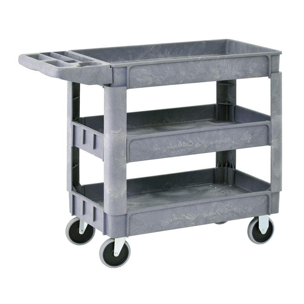 Sandusky 3Shelf 46 in x 25 in Heavy Duty Utility Cart with 5 in