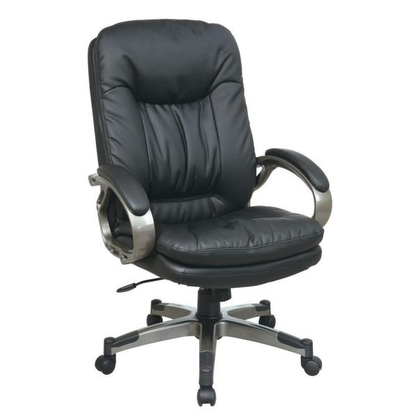 Office Star Products Black Eco Leather Executive Office Chair ECH83507-EC3
