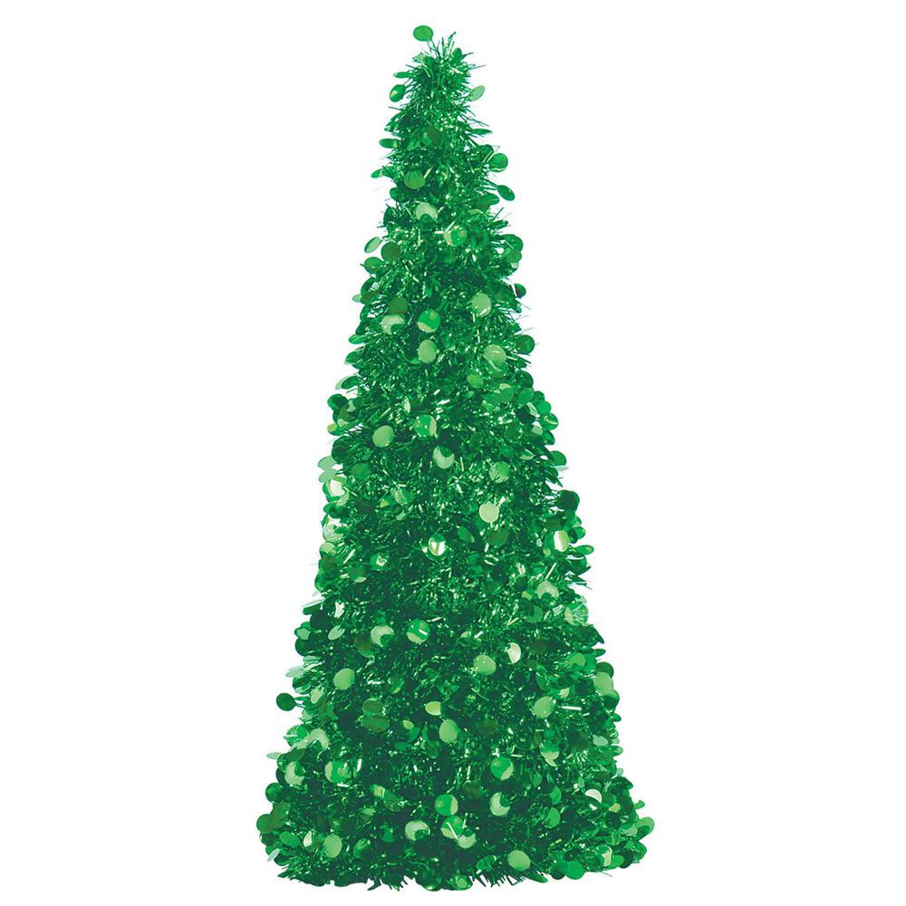 Amscan 18 In. Green Tinsel Tree Centerpiece (2-Pack