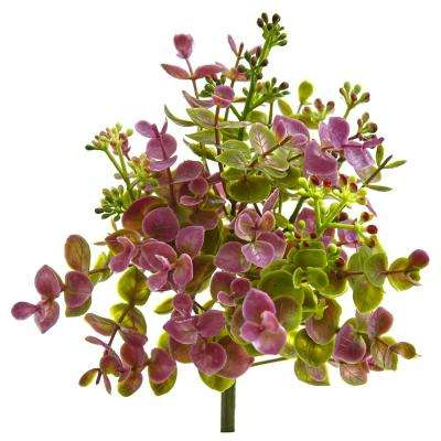Indoor 8 in. Eucalyptus and Sedum Artificial Plant (12-Set)